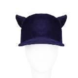 Givenchy纪梵希青莲色天鹅绒鸭舌帽