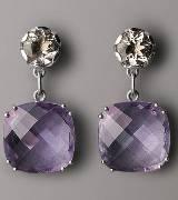 Bottega Veneta葆蝶家紫色宝石耳环