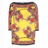 杜嘉班纳(Dolce & Gabbana)黄色印花七分袖上衣