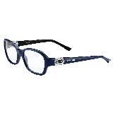 BVLGARI宝格丽蓝色塑框光学眼镜