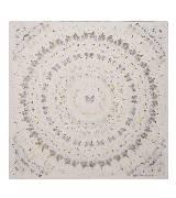 Alexander McQueen亚历山大•麦昆Damien Hirst合作系列FULL GOD FEARING圆形图案丝巾