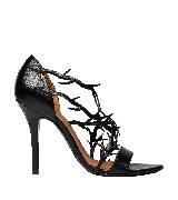 巴黎世家(Balenciaga)2013早春黑色镂空藤蔓装饰高跟鞋