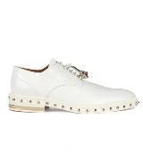 Givenchy2013早春系列白色编织图案小牛皮德比鞋