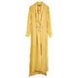 MO&Co.摩安珂黄色长款连衣裙