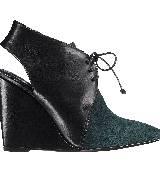 Dior迪奥2013早秋黑色楔形混搭高跟鞋