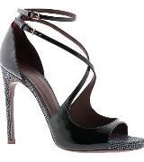 阿尔伯特-菲尔蒂黑色镂空鱼嘴高跟鞋