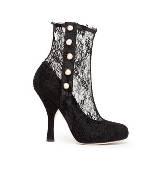 D&G黑色蕾丝踝靴