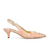 D&G粉色印花矮跟鞋