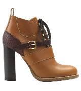 Chloé蔻依2013年冬季系列卡其色搭扣高跟鞋