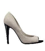 Bottega Veneta葆蝶家白色露趾高跟鞋