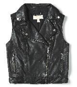 Michael Kors 2012假日系列 黑色机车马甲
