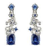 CHUAMET尚美巴黎Hortensia高级珠宝系列铂金耳环