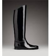 Bottega Veneta葆蝶家黑色漆皮长靴