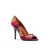 Fendi彩色条纹高跟鞋