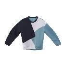 MO&Co.蓝白拼接卫衣