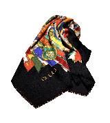 Gucci古驰印花丝巾