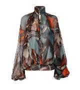 Jean Paul Gaultier 蓝色涂鸦衬衫