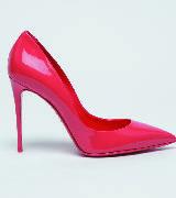杜嘉班纳KATE系列荧光漆皮高跟鞋红色款