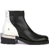 Givenchy纪梵希2013秋冬季系列黑白皮革踝靴