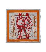 """爱马仕Hermes""""先生和太太""""泽西棉质方巾"""