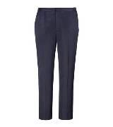 Marc Jacobs 黑色修身有褶七分裤