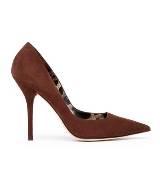 D&G咖啡色麂皮高跟鞋