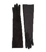 Furla芙拉黑色麂皮长手套
