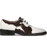 Givenchy纪梵希2013秋冬季系列奶牛图案皮革圆头鞋