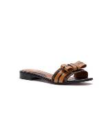 Fendi棕色漆皮凉鞋
