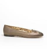 Anteprima铜色牛皮平底鞋