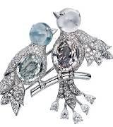 Cartier彩色蓝宝石胸针