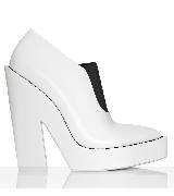 Alexander Wang亚历山大·王2014春夏系列白黑色粗跟高跟鞋