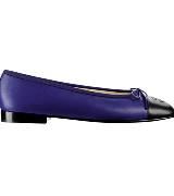Chanel香奈儿2013春夏系列蓝黑双色拼接芭蕾鞋