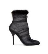 D&G黑色网纱踝靴