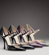 Bottega Veneta葆蝶家黑色漆皮高跟鞋