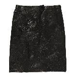 Loewe罗意威纳帕皮革拼接短裙