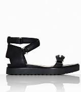 Alexander Wang黑色牛皮平底凉鞋