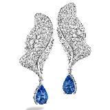宝玑表Breguet宝玑蓝色钻石耳环