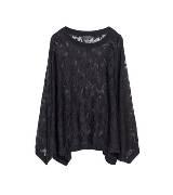 Anteprima黑色蕾丝蝙蝠衫