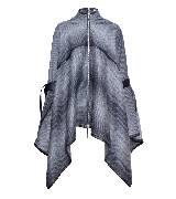 高缇耶Jean Paul Gaultier2013秋冬女装系列灰色条纹大衣