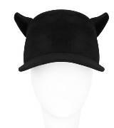 Givenchy纪梵希黑色麂皮鸭舌帽