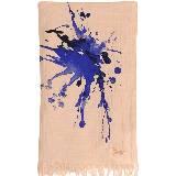 高缇耶Jean Paul Gaultier泼墨印花围巾