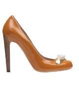 Chloé蔻依2013年秋季系列橘色浅口高跟鞋