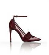 Alexander Wang暗红色透视高跟鞋