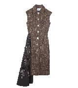 Prada普拉达2013秋冬系列无袖棕色连衣裙