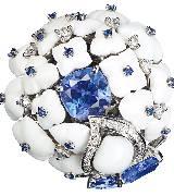 CHUAMET尚美巴黎Hortensia高级珠宝系列铂金戒指