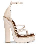 Givenchy奶油色高跟凉鞋