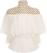 Alexander Mcqueen 亚历山大·麦昆水晶珍珠镶嵌白色上衣