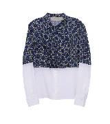Paul Smith 2013年春夏上半身蓝色圆点丝绸衬衫