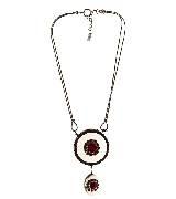 高缇耶Jean Paul Gaultier2013秋冬系列红色钻石花纹项链